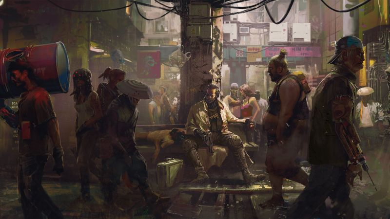 Cyberpunk 2077, Gamescom 2018, artwork, poster, 4K (horizontal)