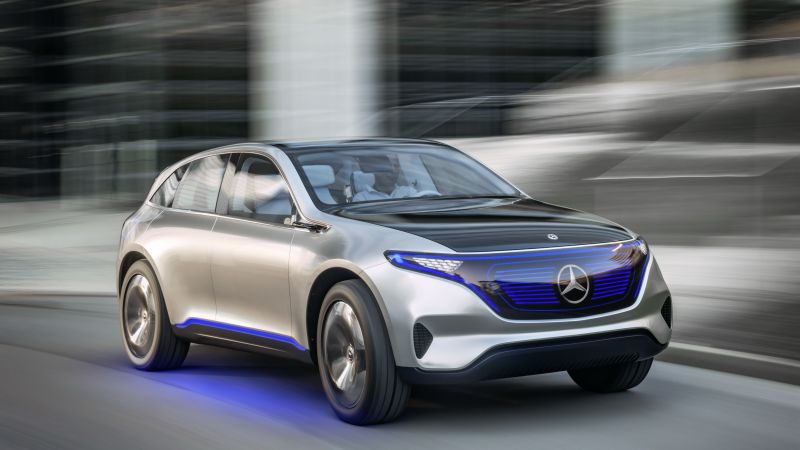 Mercedes-Benz EQC, SUV, 2019 Cars, electric cars, 4K (horizontal)