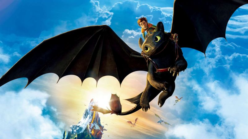 How to Train Your Dragon: The Hidden World, poster, 4K (horizontal)
