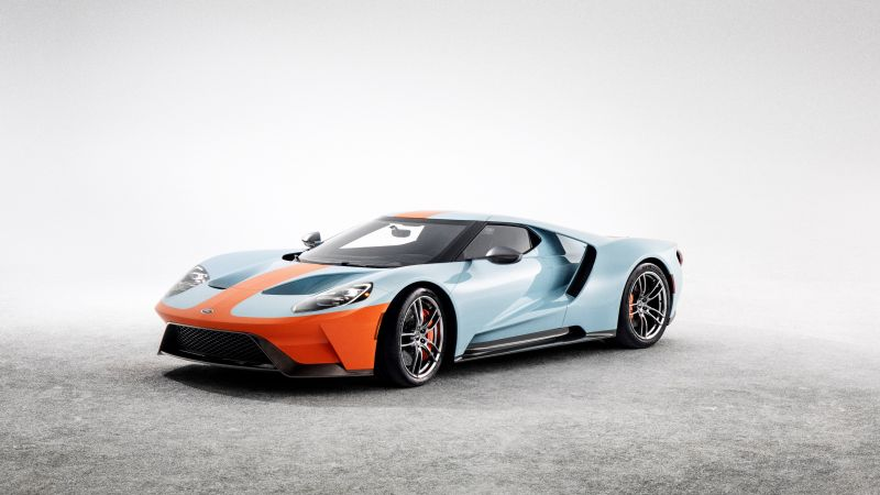 Ford GT Heritage Edition, 2019 Cars, supercar, 4K (horizontal)