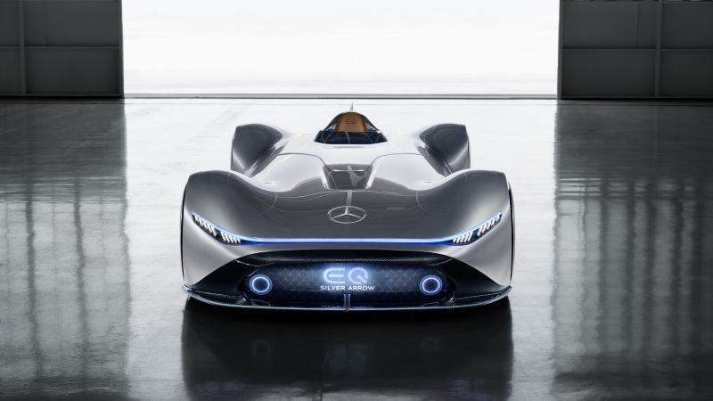 Mercedes-Benz Vision EQ Silver Arrow, electric cars, 2018 Cars, supercar, 4K (horizontal)