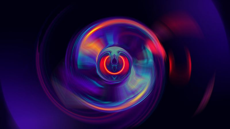light, abstract, colorful, 5K (horizontal)
