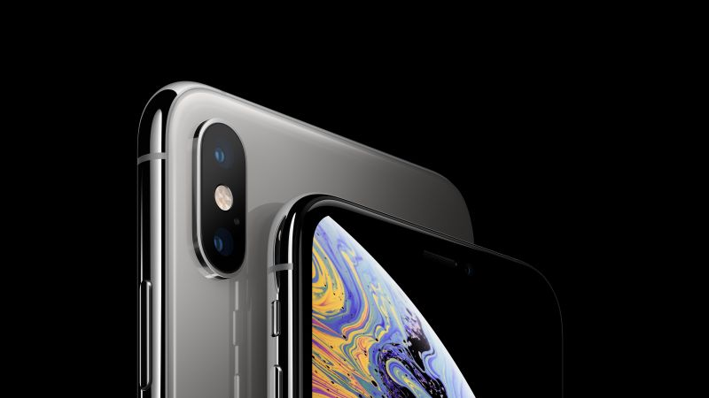 iPhone XS, iPhone XS Max, silver, smartphone, 5K, Apple September 2018 Event (horizontal)