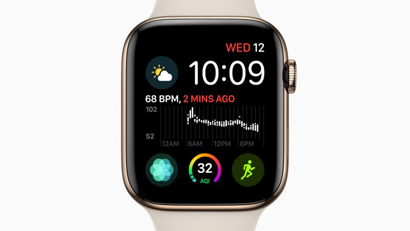 Wallpaper Apple Watch Series 4, gold, Apple September 2018 ...