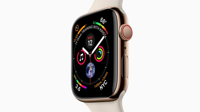 Apple Watch Series 4, gold, Apple September 2018 Event (horizontal)