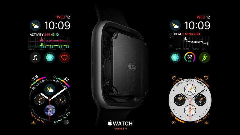 Apple Watch Series 4, S4, Apple September 2018 Event (horizontal)