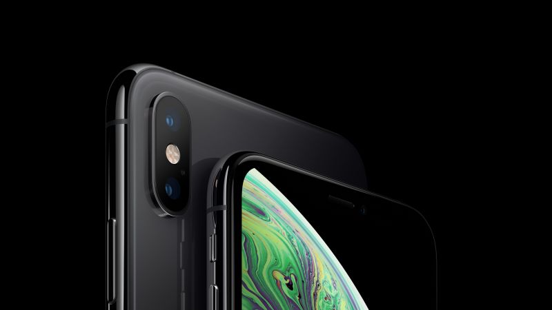 iPhone XS, iPhone XS Max, space gray, smartphone, 5K, Apple September 2018 Event (horizontal)