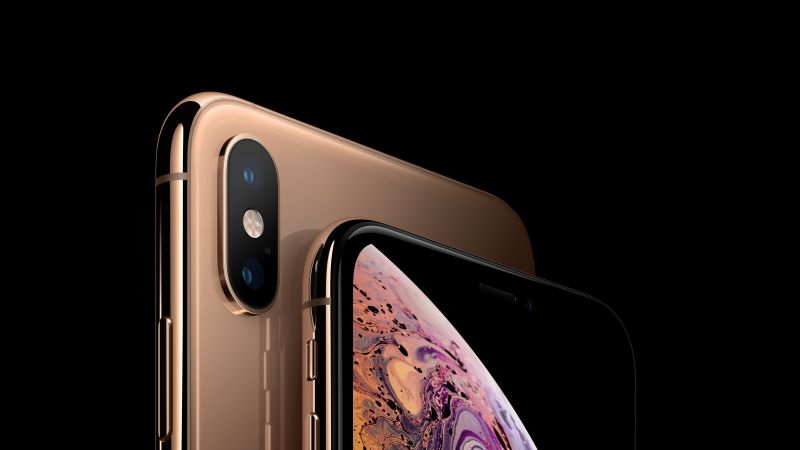 iPhone XS, iPhone XS Max, gold, smartphone, 5K, Apple September 2018 Event (horizontal)