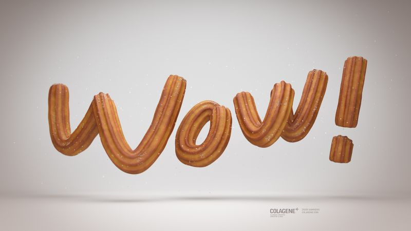 cookies, 3D, typography, 5K (horizontal)