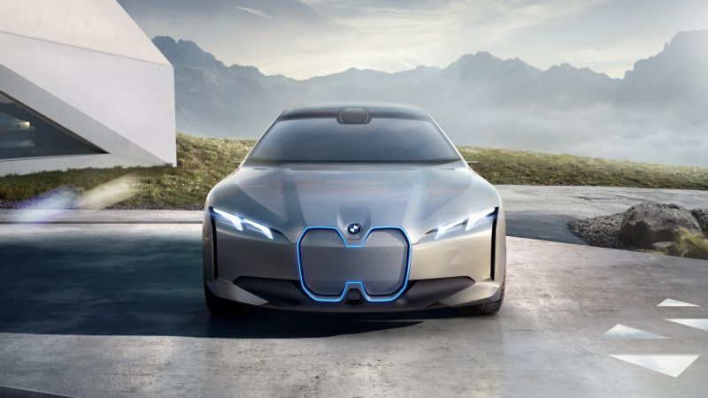 BMW i4, electric cars, 4K (horizontal)