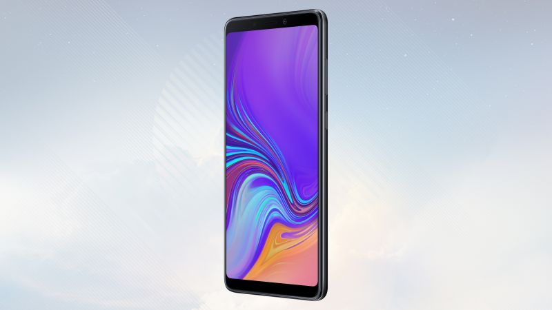 Samsung Galaxy A9, black, 4K (horizontal)