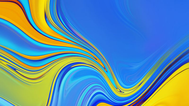 Samsung Galaxy A9, Samsung Galaxy A7, Android 8.0, abstract, colorful, HD (horizontal)