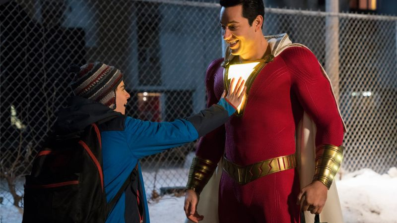 Shazam!, Zachary Levi, Asher Angel (horizontal)