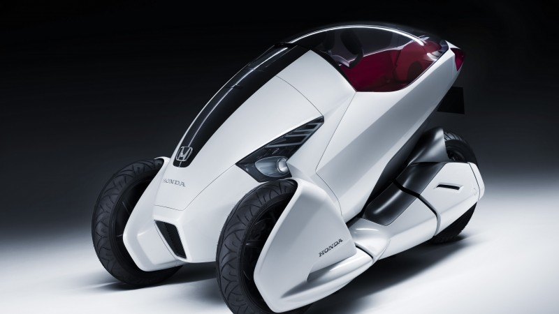 Honda 3R-C, concept, Honda, three-wheeled, electric cars, vehicle, bike, front (horizontal)