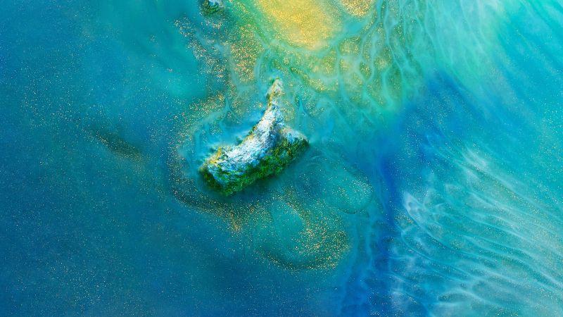 Huawei Mate 20, Android 8.0, island, ocean (horizontal)