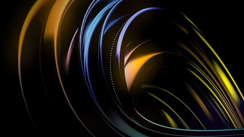 abstract, dark, colorful, HD (horizontal)