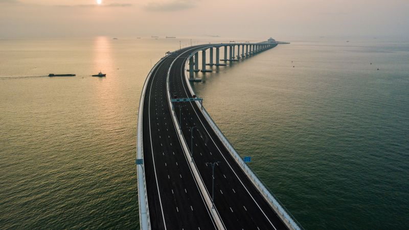 Hong Kong-Zhuhai-Macau Bridge, China, 4K (horizontal)