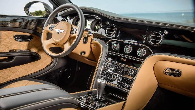Bentley Mulsanne, interior, luxury cars, Bentley, Flying B, metallic, leather, 2015 Detroit Auto Show. NAIAS (horizontal)