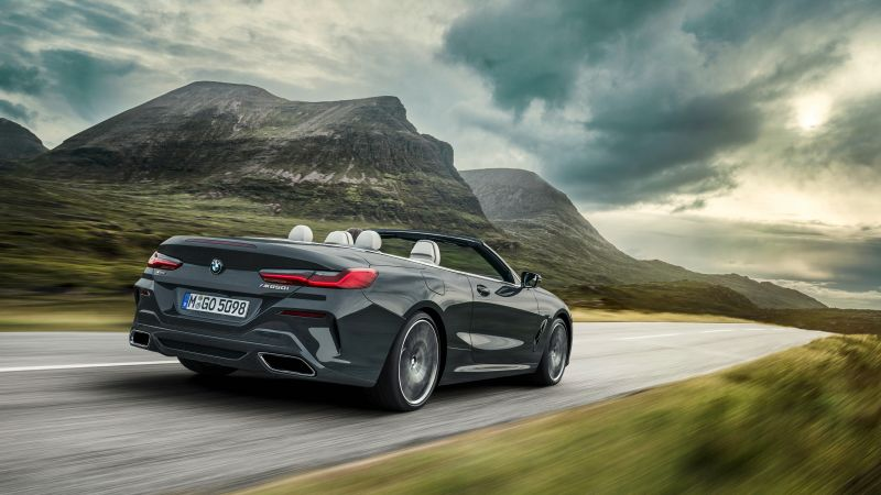 BMW 8-Series Convertible, M850i xDrive Cabrio, 2019 Cars, 4K (horizontal)