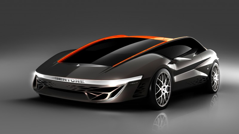 Bertone Nuccio, concept, Bertone, coupe, V8 engine, silver, orange (horizontal)