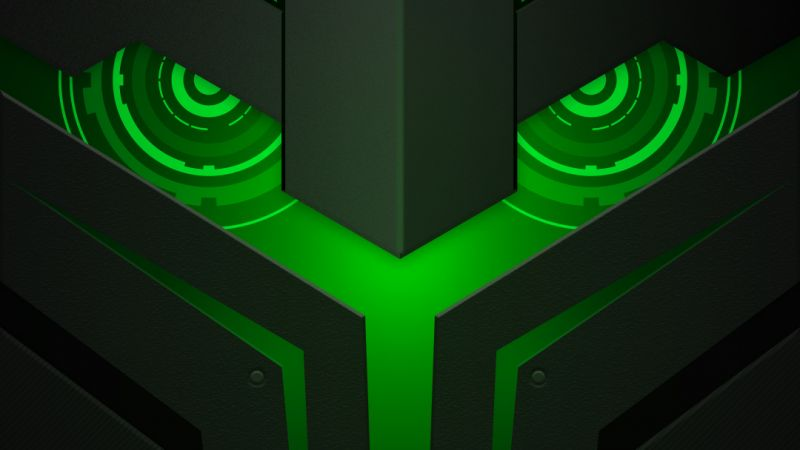 Xiaomi Black Shark Helo, abstract, Android 8.0, HD (horizontal)