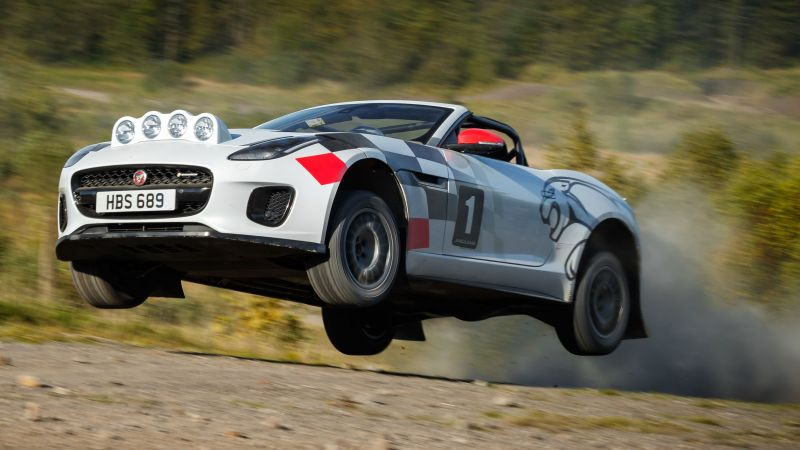 Jaguar F-Type Rally Car, 2018 Cars, 4K (horizontal)