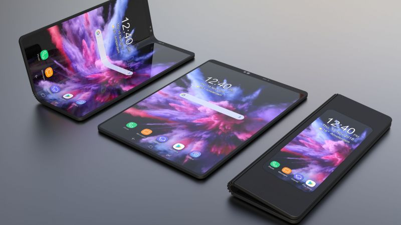Samsung Galaxy Fold, foldable smartphone, HD (horizontal)