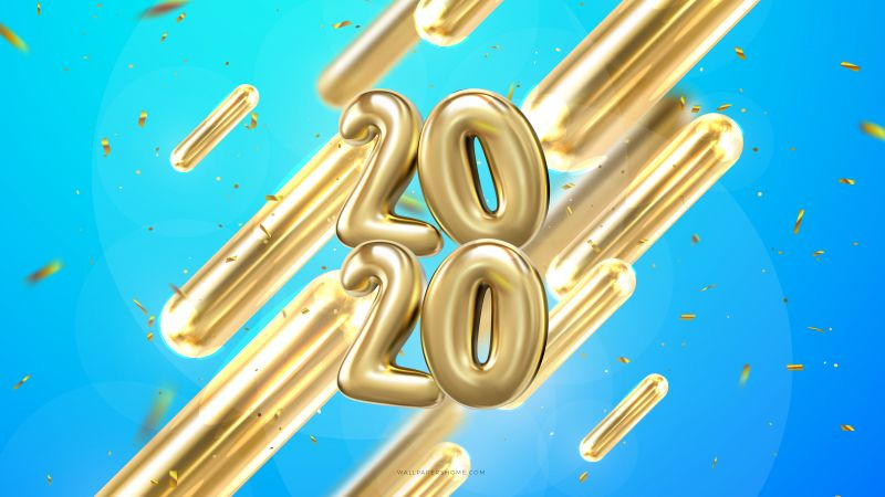 New Year 2020, Christmas, poster, 8k (horizontal)