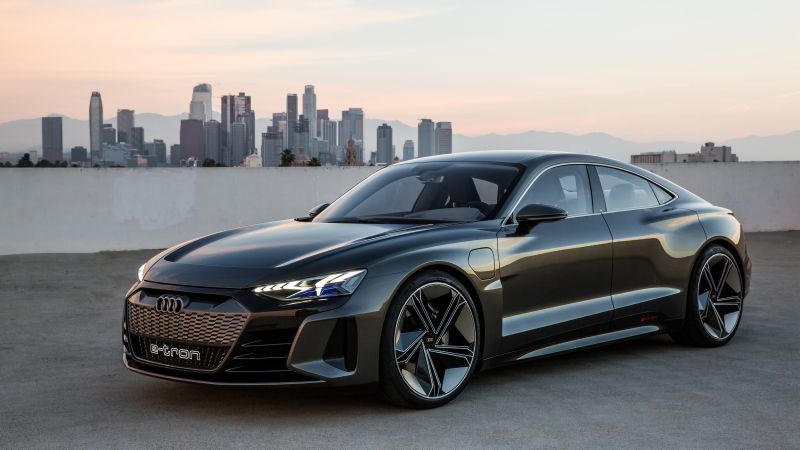 Audi e-tron GT, electric cars, 4K (horizontal)