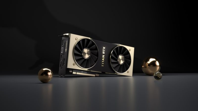Nvidia Titan RTX, graphics card, 4K (horizontal)