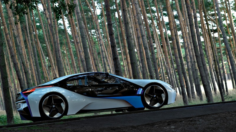 BMW Vision, electric cars, VL, BMW, Best Electric Cars 2015, concept, side, forest (horizontal)