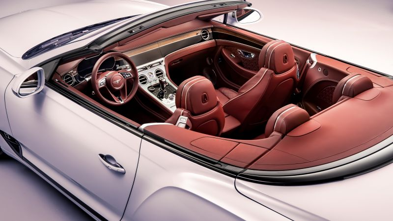 Bentley Continental GT Convertible, interior, 2019 Cars, 4K (horizontal)