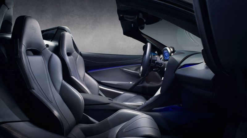 McLaren 720S Spider, interior, supercar, 2019 Cars, 4K (horizontal)