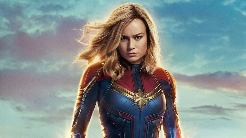 Captain Marvel, Brie Larson, 4K (horizontal)