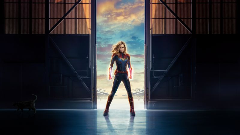 Captain Marvel, Brie Larson, 8K (horizontal)