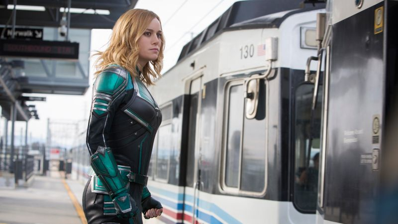 Captain Marvel, Brie Larson, 5K (horizontal)