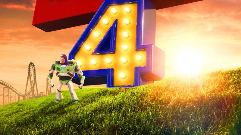 Toy Story 4, poster, HD (horizontal)