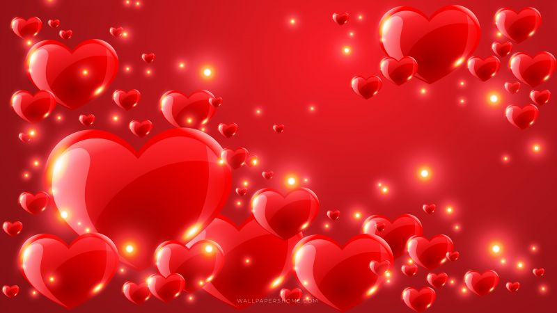 Valentine's Day, 2019, love image, heart, 8k (horizontal)