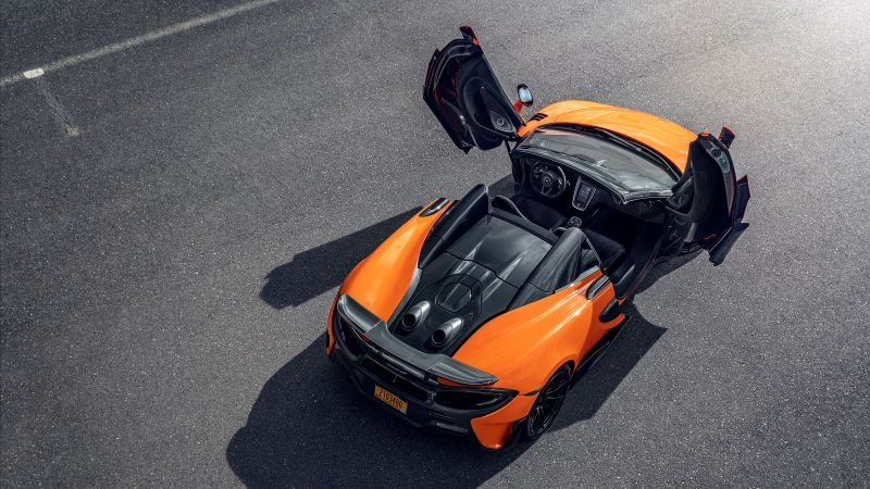 McLaren 600LT Spider, supercar, 2020 Cars, 5K (horizontal)