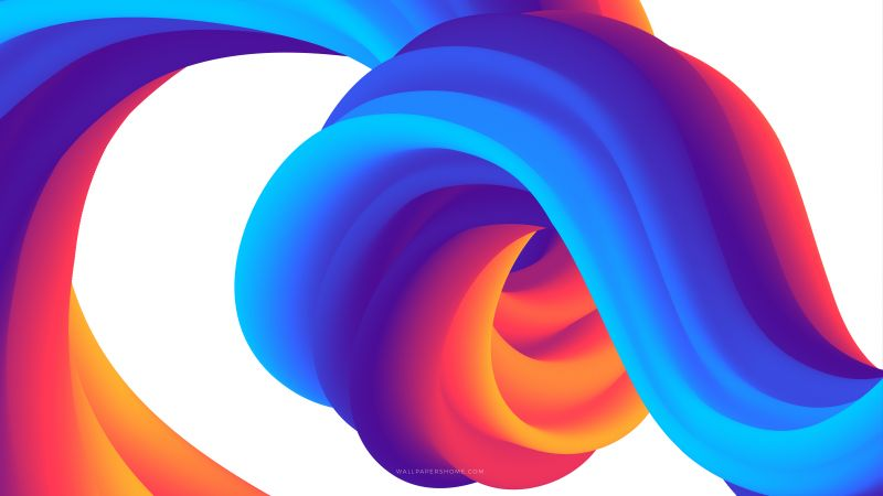 abstract, 3D, colorful, 8k (horizontal)