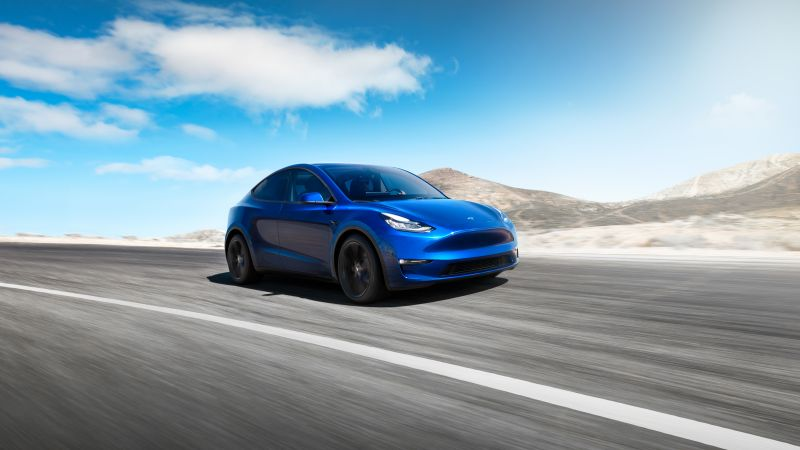 Tesla Model Y, 2020 Cars, electric cars, SUV, 8K (horizontal)