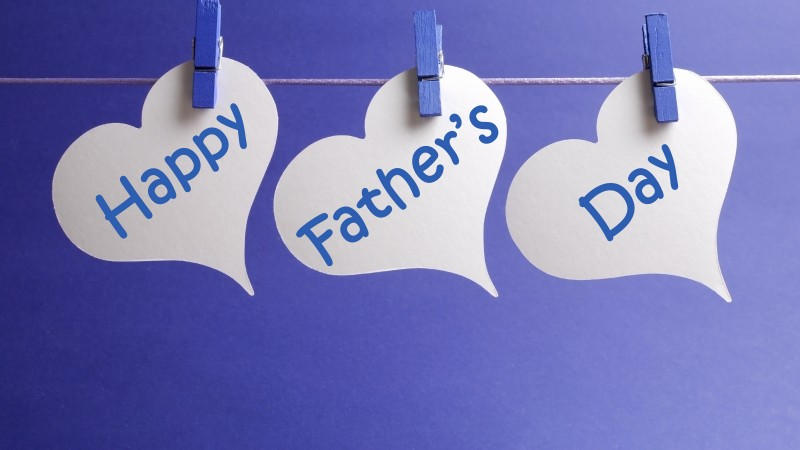 Father's Day, event, dad, love, blue, hearts (horizontal)