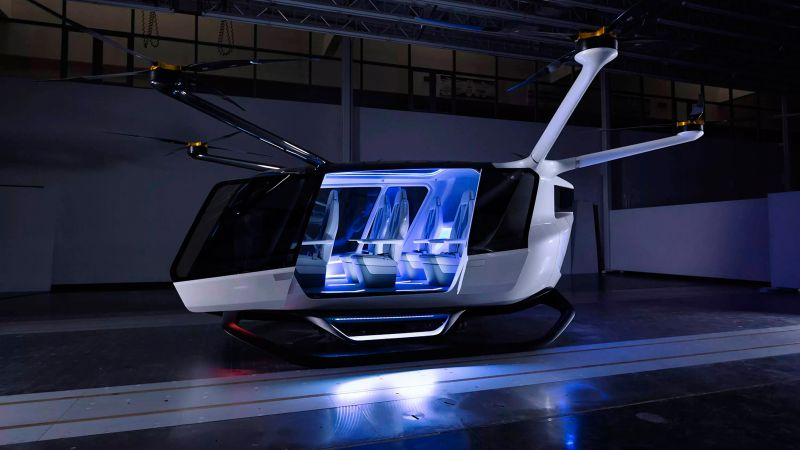Alaka'i Skai, flying taxi, 4K (horizontal)