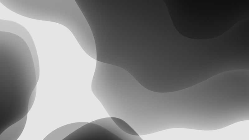 iOS 13, iPadOS, abstract, dark, WWDC 2019, 4K (horizontal)
