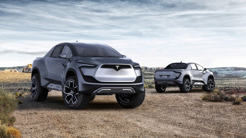 Tesla Pickup Model P, SUV, electric cars, 4K (horizontal)