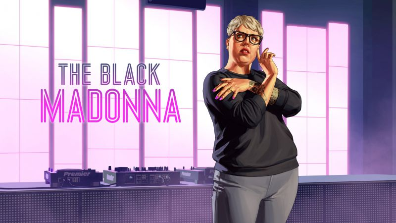 The Black Madonna, GTA Online, poster, HD (horizontal)
