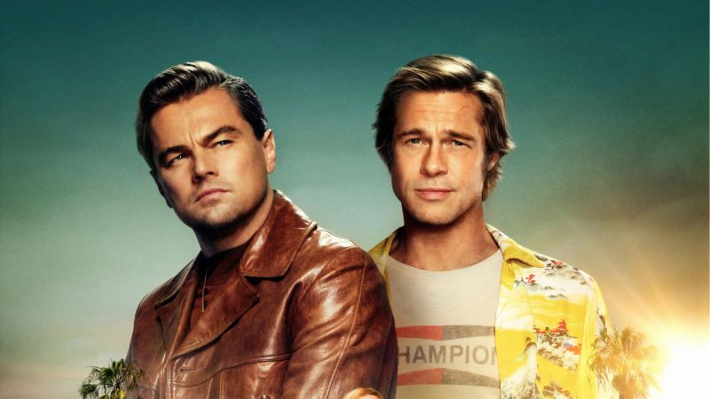 Once Upon A Time In Hollywood, Brad Pitt, Leonardo DiCaprio, 4K (horizontal)
