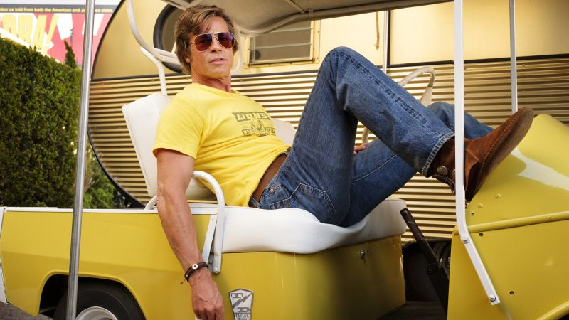 Once Upon A Time In Hollywood, Brad Pitt, 5K (horizontal)
