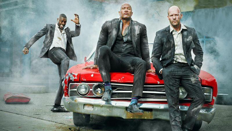 Hobbs And Shaw, Dwayne Johnson, Jason Statham, HD (horizontal)