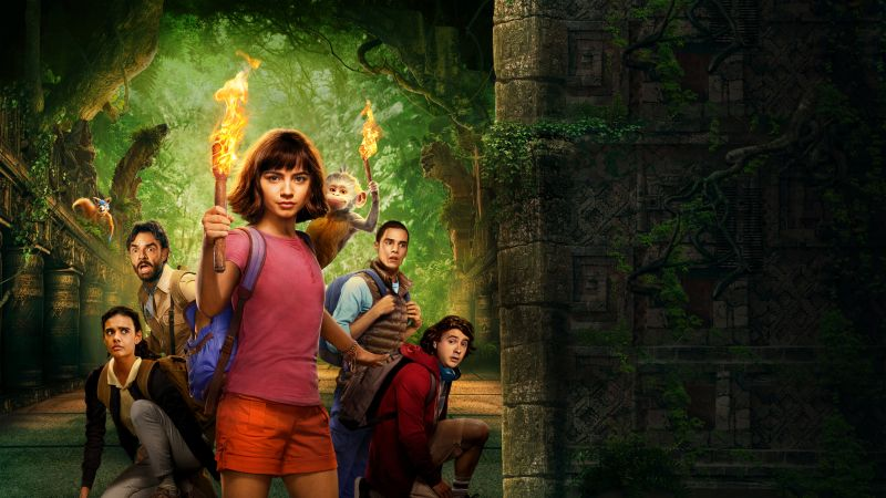 Dora And The Lost City Of Gold, poster, 8K (horizontal)